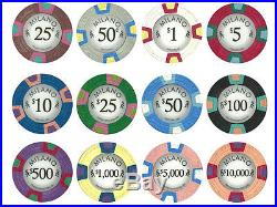 NEW 600 PC Milano Pure Clay 10 Gram Poker Chips Bulk Lot Pick Your Denominations
