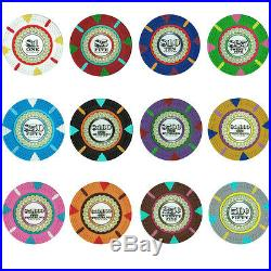 NEW 600 PC The Mint 13.5 Gram Clay Poker Chips Set Aluminum Case Pick Your Chips