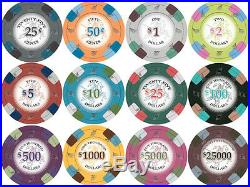 NEW 700 PC Poker Knights 13.5 Gram Clay Poker Chips Bulk Lot Mix or Match Chips