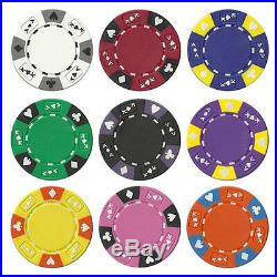 NEW 700 Pc Ace King 14 Gram Suited Clay Poker Chips Bulk Lot Mix and Match Color