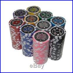 NEW 750 Piece Ace Casino 14 Gram Clay Poker Chips Set with Aluminum Case Custom