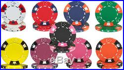 NEW 800 Crown & Dice 14 Gram Clay Poker Chips Bulk Lot Pick Your Colors