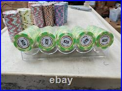 NEW 800 Monte Carlo Smooth 14 Gram Clay Poker Chips Bulk Pick Your Chips
