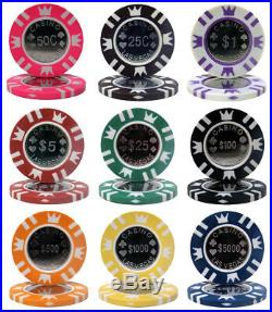 NEW 800 PC Coin Inlay 15 Gram Clay Poker Chips Bulk Mix or Match Denominations