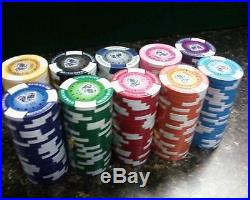NEW 900 PC Tournament Pro 11.5 Gram Clay Poker Chips Bulk Lot Pick Your Chips