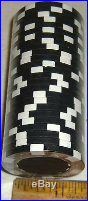 NEW Da Vinci 2 Tone Dice/Striped 300Clay Composite 11.5 gr Poker Chips Black/Whi