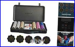 Nash 14 Gram Clay Poker Chips Set for Texas 300 Chips With Numbered Values