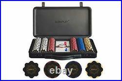 Nash 14 Gram Clay Poker Chips Set for Texas Holdem, 300 300 Blank Chips