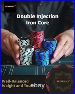 Nash 14 Gram Clay Poker Chips Set for Texas Holdem 500 Blank Chips