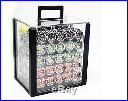 New 1000 Ace Casino 14g Clay Poker Chips Set with Acrylic Case Pick Chips