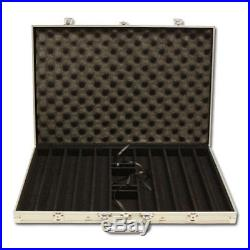 New 1000 Coin Inlay 15g Clay Poker Chips Set with Aluminum Case Pick Chips