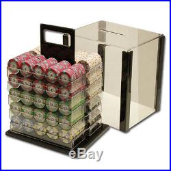 New 1000 Milano 10g Clay Poker Chips Set with Acrylic Case Pick Chips