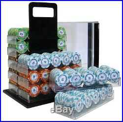 New 1000 Monte Carlo 14g Clay Poker Chips Set with Acrylic Case Pick Chips