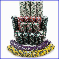 New 1000 Poker Knights 13.5g Clay Poker Chips Set with Rolling Case Pick Chips