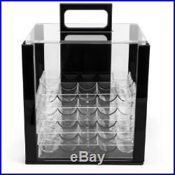 New 1000 The Mint 13.5g Clay Poker Chips Set with Acrylic Case Pick Chips