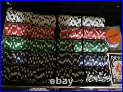 New 400 Ultimate 14g Clay Poker Chips Set with Rolling Case TEXAS hold Em
