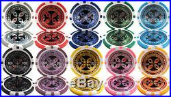 New 500 Ultimate 14g Clay Poker Chips Set with Aluminum Case Pick Chips
