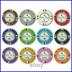 New 600 Bluff Canyon 13.5g Clay Poker Chips Set with Acrylic Case Pick Chips