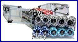 New 600 Eclipse 14g Clay Poker Chips Set with Acrylic Case Pick Chips