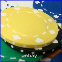 New 600 Suited 11.5g Clay Poker Chips Set with Acrylic Case Pick Chips