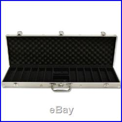 New 600 The Mint 13.5g Clay Poker Chips Set with Aluminum Case Pick Chips