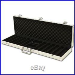 New 600 Tournament Pro 11.5g Clay Poker Chips Set with Aluminum Case Pick Chips