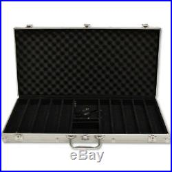 New 750 Ace King Suited 14g Clay Poker Chips Set with Aluminum Case Pick Chips