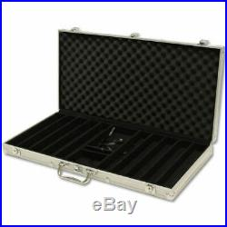 New 750 Ben Franklin 14g Clay Poker Chips Set with Aluminum Case Pick Chips