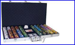 New 750 Kings Casino 14g Clay Poker Chips Set with Aluminum Case Pick Chips