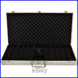 New 750 Las Vegas 14g Clay Poker Chips Set with Aluminum Case Pick Chips