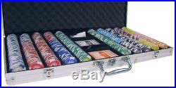 New 750 Tournament Pro 11.5g Clay Poker Chips Set with Aluminum Case Pick Chips