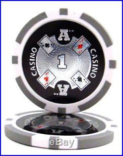 NEW 1000 PC Ace Casino 14 Gram Clay Poker Chips Bulk Lot Select Denominations