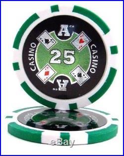 New Bulk Lot of 1000 Ace Casino 14g Clay Poker Chips Pick Denominations