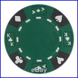 New Bulk Lot of 1000 Ace King Suited 14g Clay Poker Chips Pick Colors
