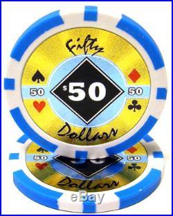 New Bulk Lot of 1000 Black Diamond 14g Clay Poker Chips Pick Denominations