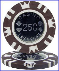 New Bulk Lot of 1000 Coin Inlay 15g Clay Poker Chips Pick Denominations