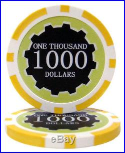 New Bulk Lot of 1000 Eclipse 14g Clay Poker Chips Pick Denominations
