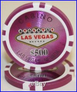 New Bulk Lot of 1000 Las Vegas 14g Clay Poker Chips Pick Denominations