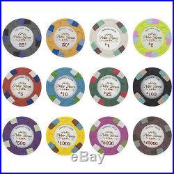 New Bulk Lot of 1000 Monaco Club 13.5g Clay Poker Chips Pick Denominations