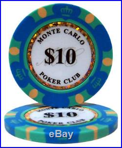New Bulk Lot of 1000 Monte Carlo 14g Clay Poker Chips Pick Denominations