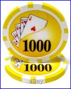 New Bulk Lot of 1000 Yin Yang 13.5g Clay Poker Chips Pick Denominations