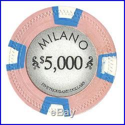 New Bulk Lot of 300 Milano 10g Clay Poker Chips Pick Denominations