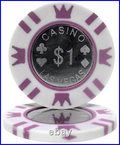 New Bulk Lot of 400 Coin Inlay 15g Clay Poker Chips Pick Denominations