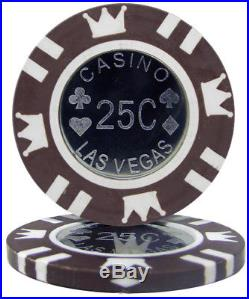 New Bulk Lot of 500 Coin Inlay 15g Clay Poker Chips Pick Denominations
