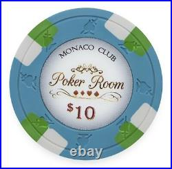 New Bulk Lot of 500 Monaco Club 13.5g Clay Poker Chips Pick Denominations