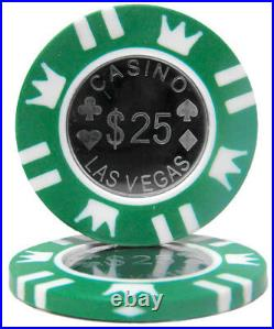 New Bulk Lot of 600 Coin Inlay 15g Clay Poker Chips Pick Denominations