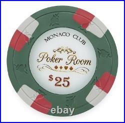 New Bulk Lot of 600 Monaco Club 13.5g Clay Poker Chips Pick Denominations