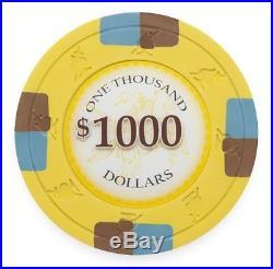 New Bulk Lot of 600 Poker Knights 13.5g Clay Poker Chips Pick Denominations