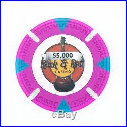 New Bulk Lot of 600 Rock & Roll 13.5g Clay Poker Chips Pick Denominations