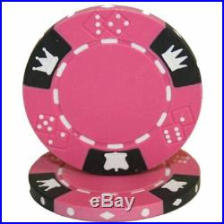 New Bulk Lot of 750 Crown & Dice 14g Clay Poker Chips Pick Colors